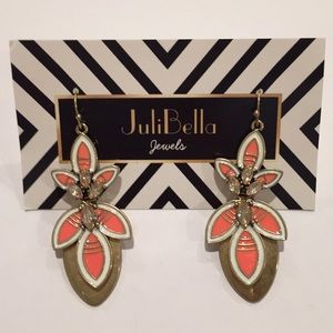Jewelry - Fashion Summer Statement Earrings Gold Coral